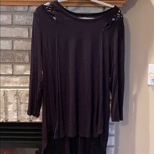 Maurices 24/7  3/4 sleeve black tee XL